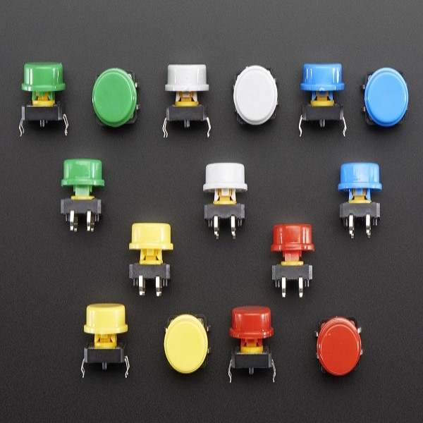 Round tactile button switch
